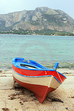 Fishing boat on the shore
