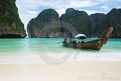 Fishing boat on Thailand beach