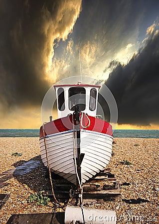 Fishing boat in waiting
