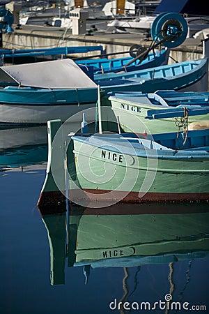 Free Fishing Boats At Nice/France Royalty Free Stock Photos - 4030798