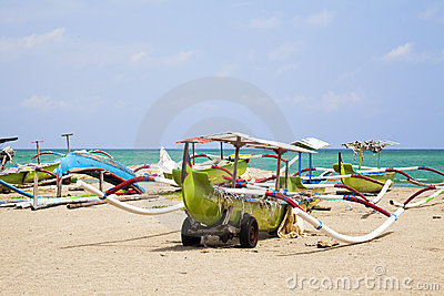 Fishing Boats on Beach, Kuta, Bali, Indonesia