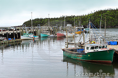 Fishing Boats In Chance Harbor, New Brunswick Stock Images - Image: 19906044