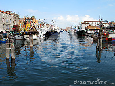 Fishing boats in Chioggia Editorial Image