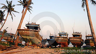 Fishing Boats, Danang - Vietnam