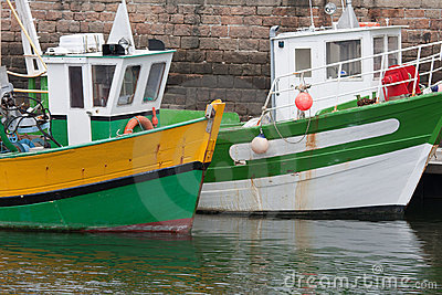 Fishing boats in harbor of Paimpol, France