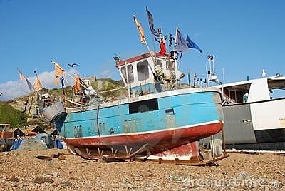 Fishing boats, Hastings