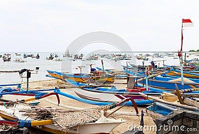 Fishing Boats, Jimbaran Beach, Bali, Indonesia