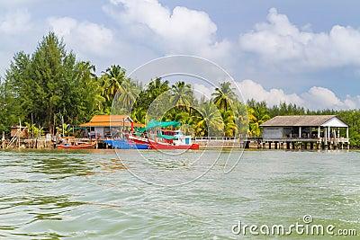 Fishing boats at the Koh Kho Khao island