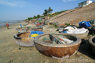 Fishing Boats at Mui Ne, Vietnam Editorial Image