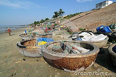 Fishing Boats at Mui Ne, Vietnam Editorial Image