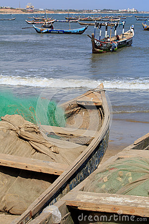 Fishing boats and nets