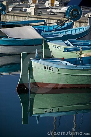 Fishing boats at Nice/France