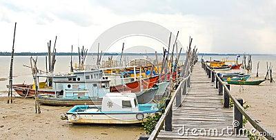 Fishing Boats at Penyabong,Malaysia