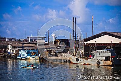 Fishing Boats at Phuket island Editorial Photography