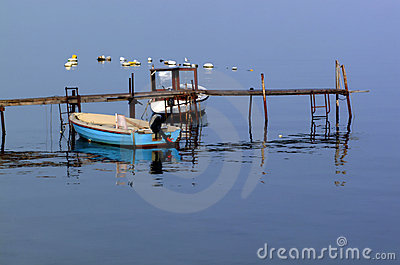 Fishing boats and pier
