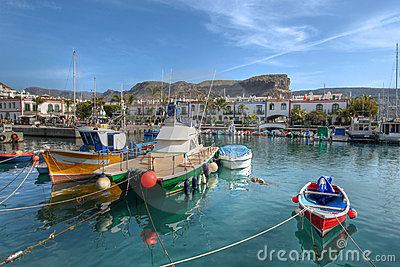 Fishing boats Puerto de Mogan Gran Canaria Spain