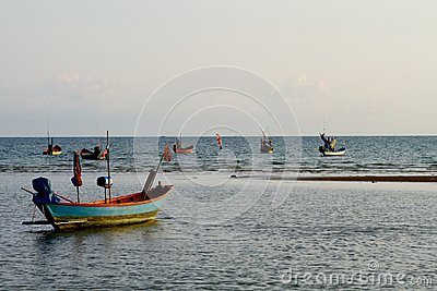 Fishing boats ready to go