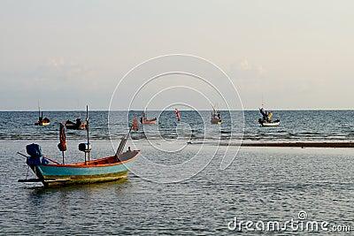 Fishing boats ready to go
