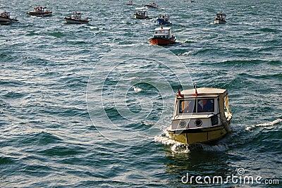 Fishing Boats on the Sea of Marmara
