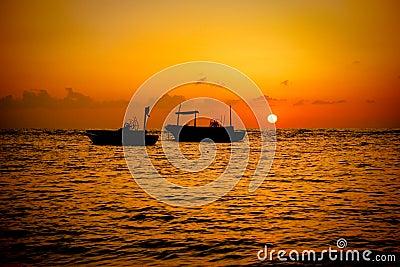 Fishing Boats Sunset