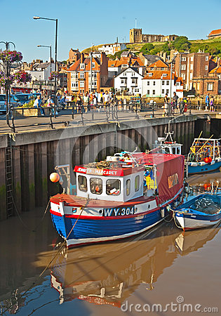 Fishing boats at Whitby Editorial Stock Image