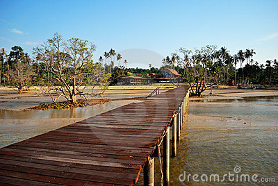Fishing bridge at Koh Mak
