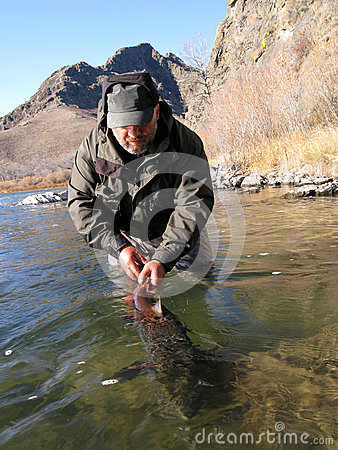 Free Fishing Catch And Release Royalty Free Stock Images - 29830329