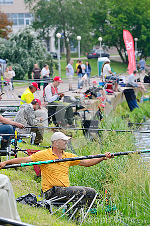 Fishing competition Editorial Stock Photo