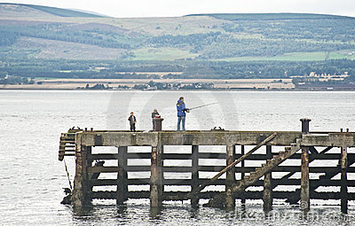 Fishing in the Cromarty Firth. Editorial Stock Image