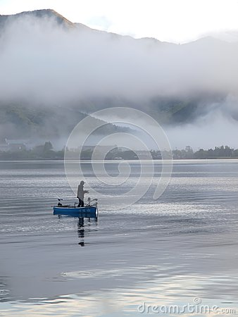 Fishing at dawn Editorial Photography