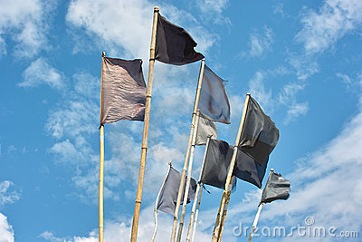 Fishing flags