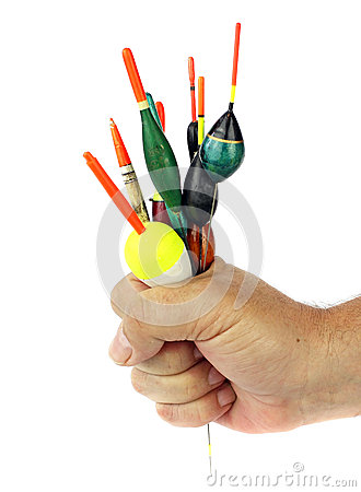 Free Fishing Floats In Hand Stock Image - 30786431