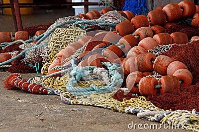 Fishing gear on the floor
