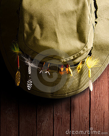 Free Fishing Hat Royalty Free Stock Photos - 19926538