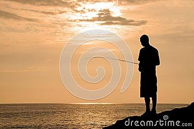 Fishing In Hawaii at Sunset