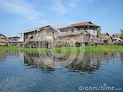 Fishing huts in the Lake