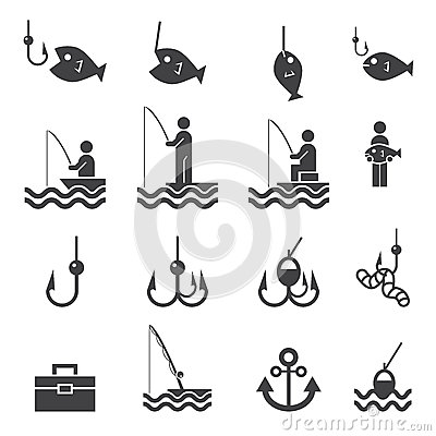 Free Fishing Icons Stock Images - 49680514