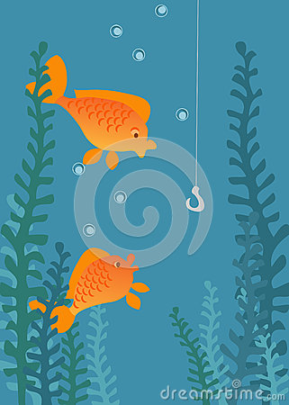 Fishing illustration.