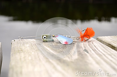 Fishing lure  blue,green and orange