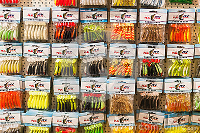 Fishing lures Editorial Stock Image