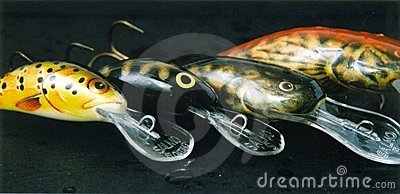 Fishing lures - wobblers