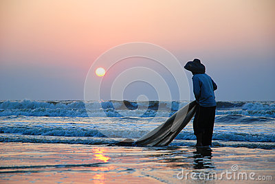 Fishing in the morning