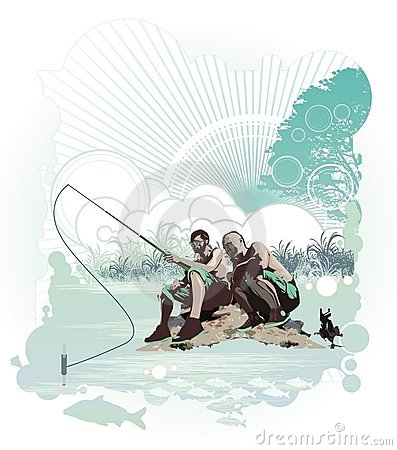 Fishing in the nature