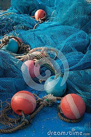 Free Fishing Nets And Buoys Stock Photos - 40688703
