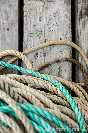 Free Fishing Nets And Floats Royalty Free Stock Photography - 93823747