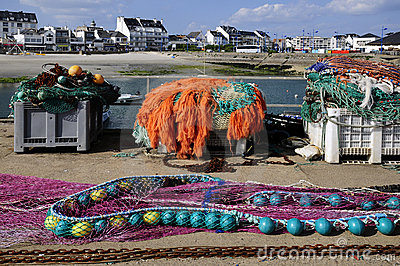 Fishing nets at Quiberon in France