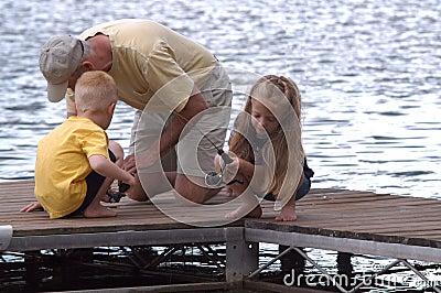 Fishing Off A Dock