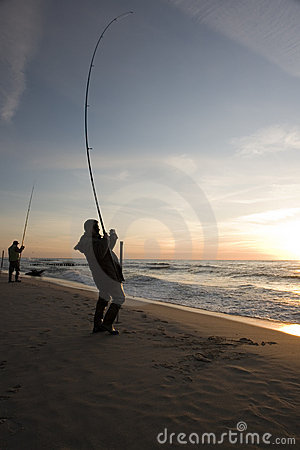 Free Fishing On Beach Stock Photography - 2342062