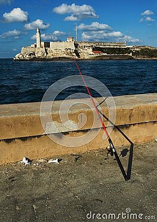 Free Fishing On Habana Malecon Royalty Free Stock Photo - 3600015