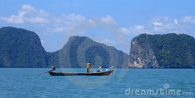 Fishing on Phang Nga Bay, Thailand